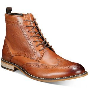 Bar III Hendrix Leather Wingtip Lace-Up Men's Boot